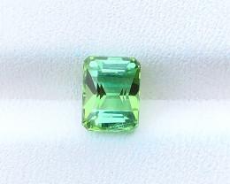 1.45 Ct Natural Greenish Transparent Tourmaline Gemstone