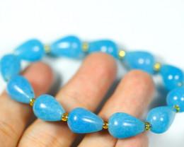 120.0Ct Natural Aquamarine Bracelet