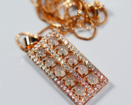 Natural Jadeite Jade Silver 925 Pendant & Necklace