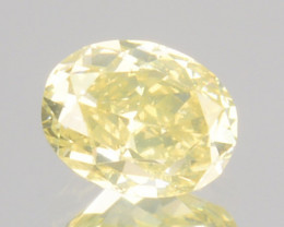 0.29 Cts Natural Untreated Diamond Fancy Yellow Oval Cut Africa