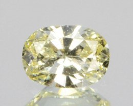 0.12 Cts Natural Untreated Diamond Fancy Yellow Oval Cut Africa