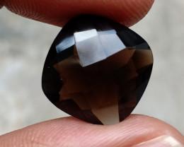 Smoky Quartz Checkered Natural+Untreated Gemstone VA2485