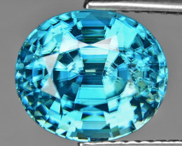 6.02 Cts Blue Zircon Natural Loose Gemstone