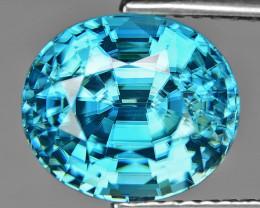 6.02 Cts Blue Zircon Natural Loose Gemstone