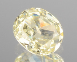0.17 Cts Natural Untreated Diamond Fancy Yellow Oval Cut Africa