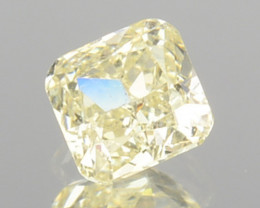 0.18 Cts Natural Untreated Diamond Fancy Yellow Cushion Cut Africa