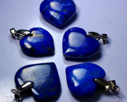 158 CT Unheated ~ Natural Blue  Color Lapis Carved Pendant Special Shape Lo