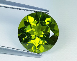 4.13 ct  Breathtaking Gem Round Cut Top Luster Natural Peridot