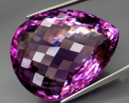 73.48 ct. Natural Top Nice Purple Amethyst Unheated Brazil - IGE Сertified