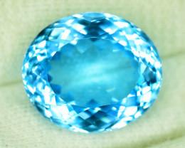 35.60 cts Swiss Blue Topaz Gemstone