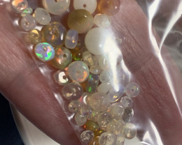 Natural Opal Welo Fire Opal Beads Parcel No Reserve