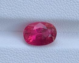 2.05 Carats Natural Color Rubellite Tourmaline Gemstone