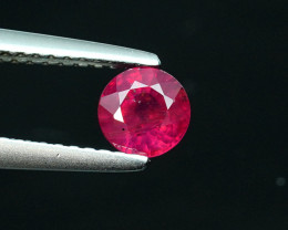 A .86CT 5.1mm BRIGHT RED ROUND CUT COMPOSITE-RUBY (FF) $1NR!