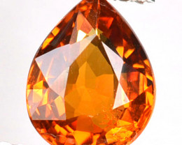 ~DAZZLING~ 1.73 Cts Natural Mandarin Orange Spessartite Garnet Pear Namibia