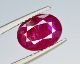 Brilliant Color 2.70 Ct Natural Ruby From Tajikistan