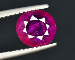 Brilliant Color 1.90 Ct Natural Ruby From Tajikistan