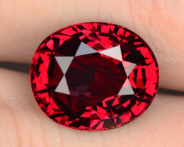 5.04 Cts Unheated Cherry Red Color Natural Rhodolite garnet Gemstone