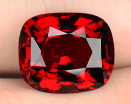 6.06 Cts Unheated Cherry Red Color Natural Rhodolite garnet Gemstone