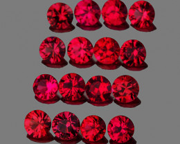 2.00 mm Round 25pcs 1.03cts Red Spinel [VVS]