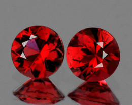 4.00 mm Round 2pcs Red Spinel [VVS]