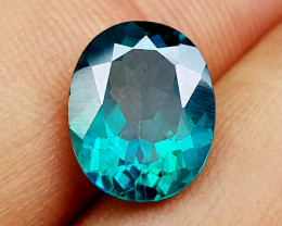 4.15 Crt Green Topaz caoted  Natural Gemstones JI41