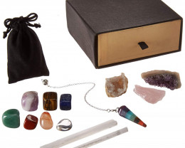 Crystals and Healing Stones Kit with 13 pcs
