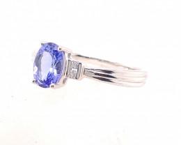 Natural Tanzanite in Silver Princess Ring F18B