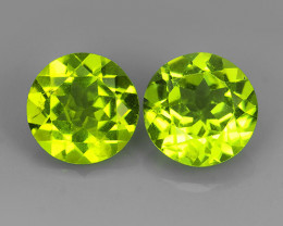 3.93 CTS~JEWEL SET!8.00 MM ROUND PERIDOT WORLD SERIES BEAUTIFUL
