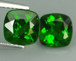 3.20 CTS NATURAL ULTRA RARE CHROME GREEN DIOPSIDE CUSHION RUSSIA