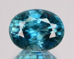 1.91 Cts Natural Sparkling Blue Zircon Oval Cut Cambodia