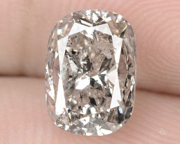 2.06 Cts Untreated White Light Gray Color natural Loose Diamond