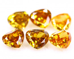 1.09Ct Natural Orange Yellow Color Fancy Diamond Lot BM254