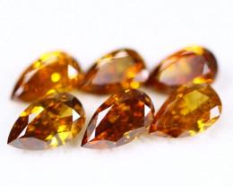 1.81Ct Natural Fancy Pear Orange Yellow Color Diamond Lot BM258
