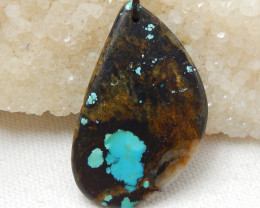 67cts Natural Turquoise ,Handmade Gemstone ,Turquoise Nugget Pendant ,Lucky