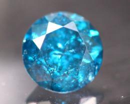 1.01Ct Natural Round Cut Blue Color Fancy Diamond TR216