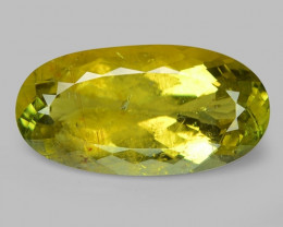 20.65 Cts UN HEATED YELLOW GREEN COLOR NATURAL TOURMALINE LOOSE GEMSTONE