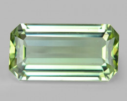 23.75 Cts UN HEATED GREEN COLOR NATURAL TOURMALINE LOOSE GEMSTONE