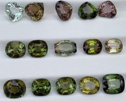 34.34 Carats Natural Mixed Color Tourmaline Gemstone Parcel