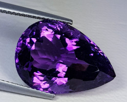 13.21 ct  Top Quality Gem Lovely Pear Cut Natural Purple Amethyst