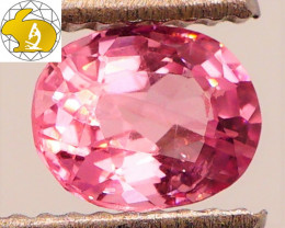 Cert. Unheated 0.95 CT Bright Pink Mahenge Spinel FREE Shipping!