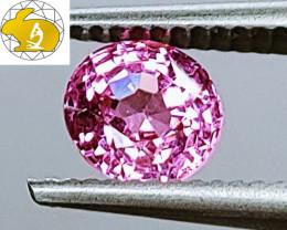 Cert. Unheated 1.28 CT NEON Pink-Purple Mahenge Spinel FREE Shipping!