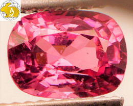 Cert. Unheated 1.48 CT Rich Pinkish Purple Mahenge Spinel FREE Shipping!