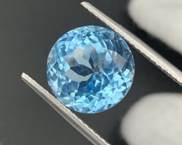 12.60Cts Round Top Quality Natural Topaz Master Cut