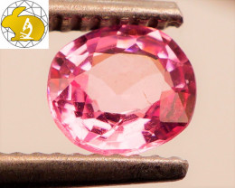 GLOWING! Cert. Unheated 0.79 CT Neon Pink Mahenge Spinel FREE Shipping!