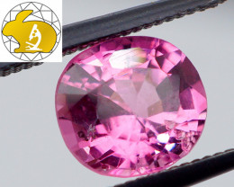 VIVID & GLOWING! Cert. 1.18  CT RICH Pink Mahenge Spinel FREE Shipping!
