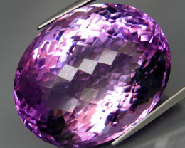 72.34 ct. Natural Top Nice Purple Amethyst Unheated Brazil - IGE Сertified