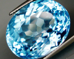 28.25 ct Natural Swiss Blue Topaz – IGE Certificate