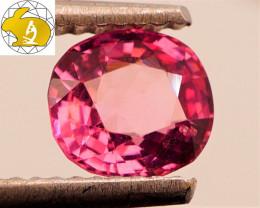 VVS1 - GLOWING! Cert. 1.12 CT Bright Pinkish Purple Mahenge Spinel FREE Shi