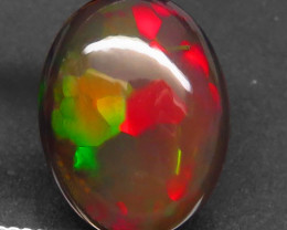 4.92 Ct. Natural Play of Color Rainbow Fire Hydrophane Opal – IGE Certific