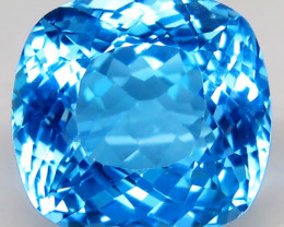 31.00 ct. Natural Swiss Blue Topaz Top Quality Gemstone Brazil